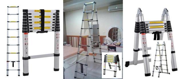 Tangga lipat teleskopik aluminium